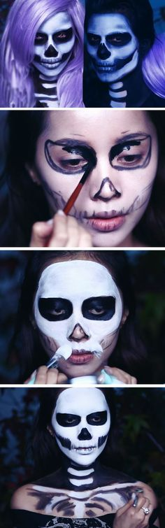 His n Hers Skeleton | 20+ Super Cool DIY Halloween Costumes for Women
