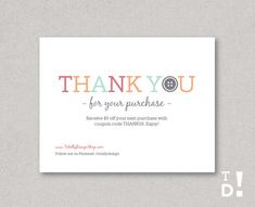 Business thank you cards template instant download naturally thank you for your purchase notecard printable instant download perfectly buttoned friedricerecipe