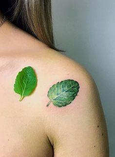 Rita Kit leaf tattoo