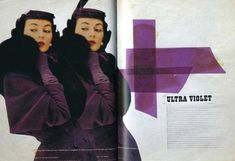 The Ultra Violets  Article in Harper's Bazaar, Photographs by  Richard Avedon.  published in the last issue directed by Brodovitch  August 1958
