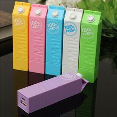 F, DIY 1*18650 Milk Box Battery Power Bank Charger Box For iPhone