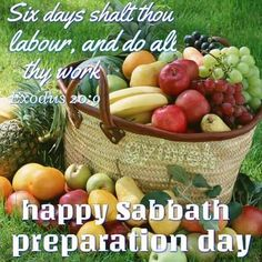 Have a blessed Sabbath/preparation day loved Ones