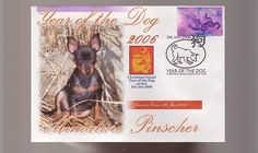 MINIATURE PINSCHER DOG STAMP COV 2006 YEAR OF THE DOG 3 in Collectables, Animals | eBay