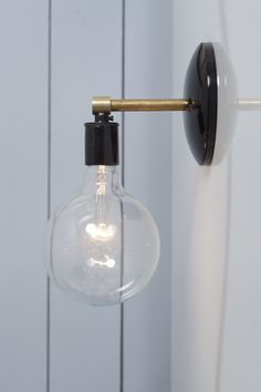electric wall sconces modern lighting. Simple Electric Brass Wall Sconce  Bare Bulb Light To Electric Sconces Modern Lighting I