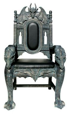 Celtic dragon chair Styled to resemble centuries-old castle dragons, this dragon chair is a worthy decoration for the chamber of any king. Our beautiful dragon foyer stand is also a huge gift for your friends and family. Gothic Furniture, Antique Furniture, Cool Furniture, Furniture Design, Silla Art Deco, Throne Chair, Beautiful Dragon, Celtic Dragon, Gothic Home Decor
