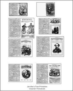 Dollhouse Miniature Printables | Victorian Periodicals