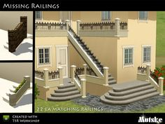 Matching Missing Railings by mutske - Sims 3 Downloads CC Caboodle