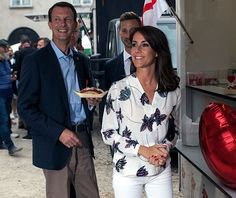 Princess Marie and Prince Joachim of Denmark attended the victory ceremony for the Top Dog Charity Competition 2016, which is part of the Copenhagen Cooking and Food Festival in Denmark on August 22, 2016. Yasser Rahim Naz Ahmed Amin from Kurdistan won the competition. Princess Marie is the permanent royal patron for Copenhagen Cooking and Food Festival.