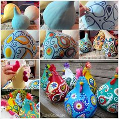 These Super Cute Paisley Chickens are Made from Gourds