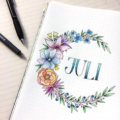 I intended to do try using watercolour in my bullet journal for the first time today, then had second thoughts when I rather liked how it… Bullet Journal Inspo, Bullet Journal Month, Bullet Journal Banner, Bullet Journal Aesthetic, Bullet Journal Notebook, Bullet Journal Ideas Pages, Bullet Journal Layout, Bullet Journal First Page, Bullet Journal Spread