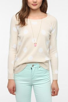 Lucca Couture Polka Dot Sweater   #UrbanOutfitters