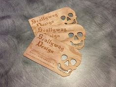 100 Very Unique Custom Wooden Business Cards by ScallywagDesign, $125.13
