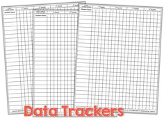 Teacher Friendly Data Collection {freebie} - Little Minds at Work Data Binders, Data Notebooks, Data Tracking, Data Collection Sheets, Preschool Assessment, File Folder Activities, Self Contained Classroom, Teachers Aide, Amigurumi