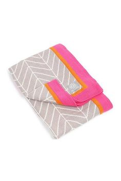 33bb6634d10 Haute Herringbone Stroller Blanket in Pink by Bella Tunno Knit stroller  blanket