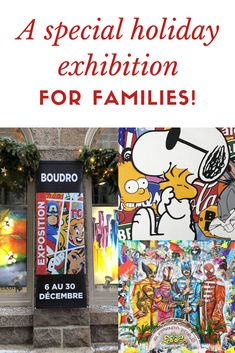 A special Holiday exhibition Old Quebec, Quebec City, Le Petit Champlain, Pop Art, Holiday, Christmas, Art Gallery, Comic Books, Artist