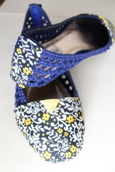 Lula Louise: Refashion – Floral Fabric Covered Shoes