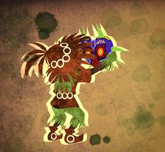 Skull kid finding a cursed mask. Cartoon World, Legend, Triforce, Drawings, Zelda Art, Video Game Art, Artsy, Fan Art, Daily Drawing