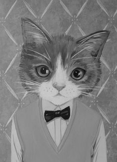 "habitable:  ""Morris"" - A Cat in Clothes by Heather Mattoon"
