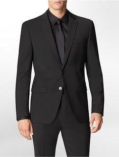 X Fit Ultra Slim Fit Black Suit Jacket