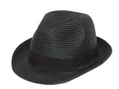 Black Straw Fedora Hat S04 Straw Fedora, Fedora Hat, Hats, How To Wear, Shopping, Black, Fashion, Felt Hat, Moda