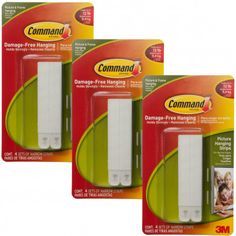 12ct Command 3M Narrow White Picture Frame Hanging Strip Sets