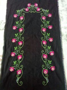 This Pin was discovered by HUZ Hand Work Embroidery, Cross Stitch Embroidery, Embroidery Designs, Designer Punjabi Suits, Indian Designer Wear, Cross Stitch Designs, Cross Stitch Patterns, Kurti Patterns, New Dress