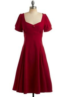 Red Like Me Dress, #ModCloth