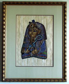 Estate Egyptian Papyrus Paintings by AntiqueAlchemists on Etsy, $95.00