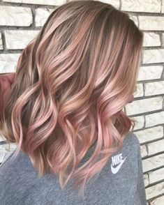 Gold Hair Colors, Ombre Hair Color, Hair Color Balayage, Blonde Color, Cool Hair Color, Color Red, Pelo Color Gris, Rose Gold Hair Blonde, Blonde Pink