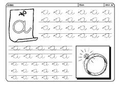 Fichas infantiles para aprender a escribir. Fichas infantiles para enseñar a los niños a trazar bien las letras. Fichas de caligrafía de todas las letras