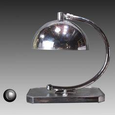 1930's VTG Gilbert Rohde Era Machine Age Art Deco Desk Lamp * RESTORED