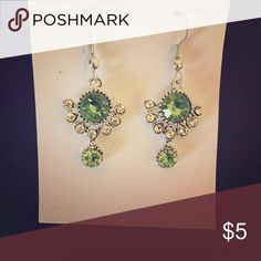 NWT Silver and Sea Green Earrings Silver and sea green dangling earrings. Silver and sepia combination also available. Jewelry Earrings