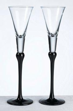 BK Set Of Tall Flutes -Black