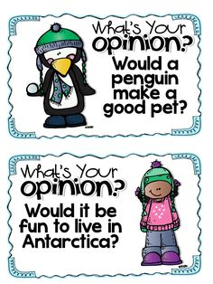 opinion writing prompts for winter....SO CUTE!!!!!!!