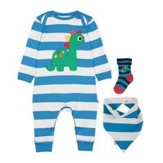 Frugi Boy Girl baby White Blue Jolly Penguin Sleepsuit Babygrow BODYSUIT NB-12M