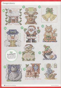 natty's cross stitch corner: 50 Small Christmas Motifs                                                                                                                                                                                 More