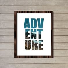 Adventures Instant Download Wall Art Printable by FebruaryLane