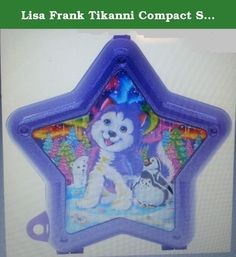 Lisa Frank Tikanni Compact Star Speaker. Play your favorite music in this adorable glitter-injected speaker. Printed with your favorite Lisa Frank characters on the outside, open it up to reveal a hidden compact mirror! USB charging cable and audio cable included. Features: • Hidden compact mirror • Stereo sound Quality • Lisa Frank characters • Collect them all.
