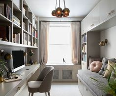 """When Gardenia Galiardo decided to create a home office in her Manhattan apartment, she faced plenty of challenges. This being New York, the main obstacle was space; the room for her home office measured a snug 8.5 feet by 12 feet and needed to perform double duty. """"I wanted the space to have a lot …"""