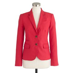 In search of the perfect Red blazer - Classic schoolboy blazer in linen - AllProducts - sale - J.Crew