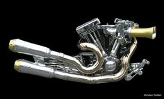 NO 53: HARLEY DAVIDSON S CHOPPER MOTORCYCLE ENGINE by Gordon Calder, via Flickr