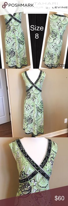 """Tahari Dress Size 8 Excellent Condition. Empire Waist and slight A-line skirt is very flattering. Approximate Measurements: Bust - 38"""", Waist - 32"""", Length - 40"""". Tahari Dresses"""