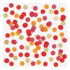 Tafel confetti Groot 2,5 cm - Per zakje van 15 gram www.confettienco.be #decoratie #verjaardag #feest #kinderen #confetti #tafel #rood #oranje #geel #webshop