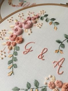 Wonderful Ribbon Embroidery Flowers by Hand Ideas. Enchanting Ribbon Embroidery Flowers by Hand Ideas. Hand Embroidery Stitches, Silk Ribbon Embroidery, Modern Embroidery, Embroidery Hoop Art, Hand Embroidery Designs, Floral Embroidery, Cross Stitch Embroidery, Embroidery Ideas, Wedding Embroidery