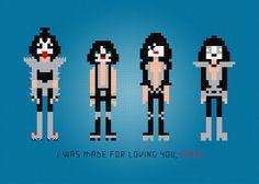 Kiss Rock Band Cross Stitch PDF Pattern by pixelpowerdesign, $4.00