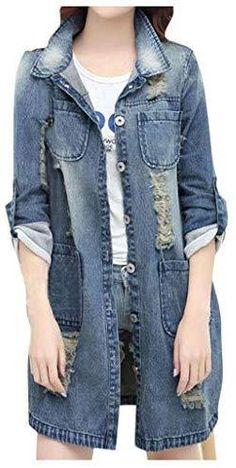 Hooded Denim Jacket Casual Denim Coat, Tie Dye T Shirts, Ripped Denim, Sweater Jacket, Coats For Women, Denim Jackets, Trench, Wraps