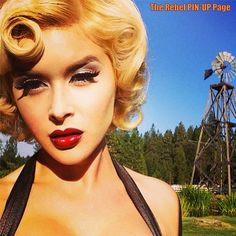 www.instagram.com/pinupgram @pinupgram #pinupgram BLONDE AND DANGEROUS... RENEE…