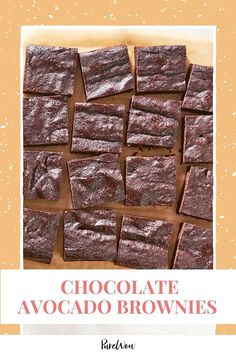 These chocolate avocado brownies are miraculously cakey and fudgy at the same time, and a great way to use up ripe avocados. #avocado #brownies #chocolate