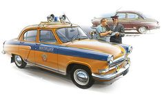 Best Classic Cars, Car Illustration, Car Posters, Car Drawings, Automotive Art, Aviation Art, All Cars, Police Cars, Firefighter
