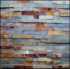 "Slate ledger panels make good use of waste materials from tile production. Chunks of leftover slate chunks are glued up into 6"" x 24"" ""tiles"" so that they can be mortared directly to your wall surface.  Great for use in exterior applications or for use interior on fireplace surrounds.  Available at Eco-Friendly Flooring for $10 each"